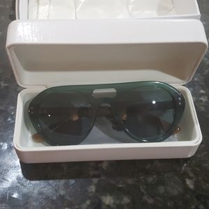 Moncler Teal Aviator Sunglasses